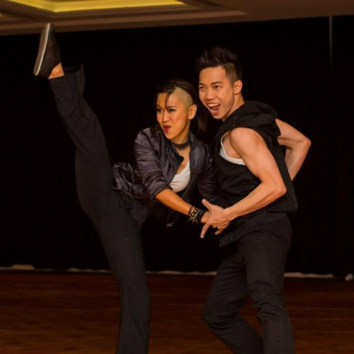 Eugene Performing with Partner in Australia at Swingsation