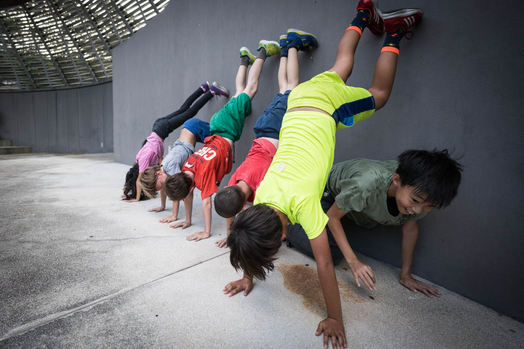 Superfly Kids Parkour Camp Quadrapedal Movement Conditioning